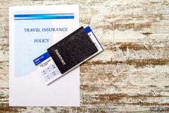 Travel insurance policy Royalty Free Stock Image