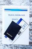 Travel insurance policy Royalty Free Stock Images