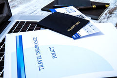 Travel insurance policy Stock Images