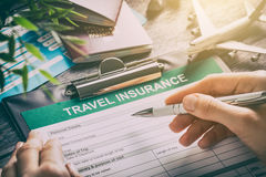 Travel insurance safe background. Royalty Free Stock Photography
