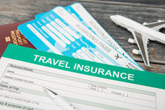 Travel insurance safe background. Stock Photography