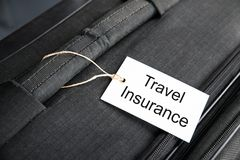 Travel Insurance Tag Royalty Free Stock Photo