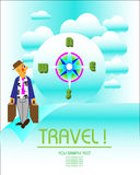 Travel invitation Stock Images