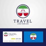 Travel Iran Creative Circle flag Logo and Business card design. This Vector EPS 10 illustration is best for print media, web design, application design user stock illustration