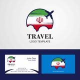 Travel Iran Flag Logo and Visiting Card Design. This Vector EPS 10 illustration is best for print media, web design, application design user interface and royalty free illustration