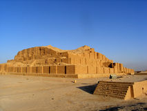 Travel Iran: ziggurat Choqa Zanbil stock photos