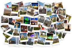 Travel in Ireland. Collage made of polaroids. Royalty Free Stock Photos