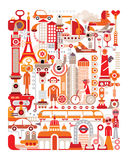 Travel. Isolated vector illustration on white background. Graphic art design Royalty Free Stock Photos