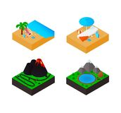 Travel isometric set icons. Vector illustration vector illustration