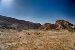 Desert landscape in Israel south. Travel in israeli arava desert under blue sky Stock Image