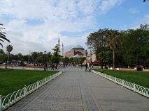 Hagia Sophia from far stock images