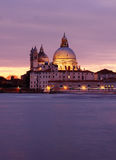 Travel in Italy - Sunset at the Madonna della Salute Church, Venice Royalty Free Stock Photo