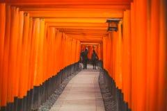 Travel Japan, Torii Gateways in Fushimi Inari Taisha Shrine Royalty Free Stock Image