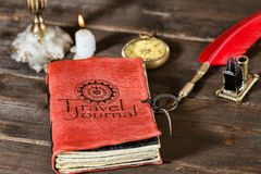 Travel journal Stock Image