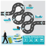 Travel And Journey Business Infographic Royalty Free Stock Photos