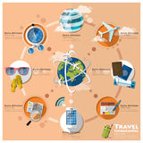Travel And Journey Business Infographic Stock Images