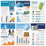Travel And Journey Chart Diagram Infographic Stock Photos