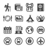Travel and journey icon set. Vector and illustration vector illustration