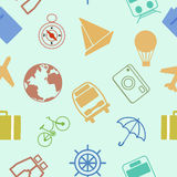 Travel journey. pattern colorful seamless background. Stock Image