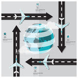 Travel And Journey Runway Business Infographic Stock Photography