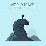 Travel, journey, trip vector logo design template. Stock Photography