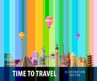 Travel, journey vector logo design template Stock Photo