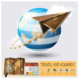 Travel And Journey World Map Infographic Stock Photography