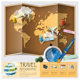 Travel And Journey World Map Infographic Royalty Free Stock Images