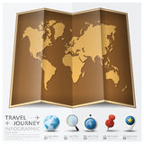 Travel And Journey World Map With Point Mark Infographic Royalty Free Stock Photos