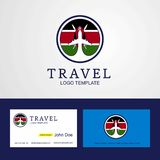 Travel Kenya Creative Circle flag Logo and Business card design. This Vector EPS 10 illustration is best for print media, web design, application design user vector illustration