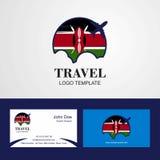 Travel Kenya Flag Logo and Visiting Card Design. This Vector EPS 10 illustration is best for print media, web design, application design user interface and vector illustration