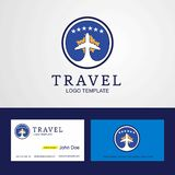 Travel Kosovo Creative Circle flag Logo and Business card design. This Vector EPS 10 illustration is best for print media, web design, application design user vector illustration
