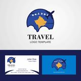 Travel Kosovo Flag Logo and Visiting Card Design. This Vector EPS 10 illustration is best for print media, web design, application design user interface and vector illustration