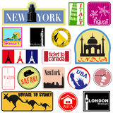 Travel Label Set Royalty Free Stock Photography