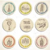 Travel labels vector illustration