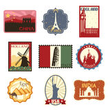 Travel labels or badges Stock Photos