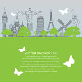 travel landmark background Royalty Free Stock Photography