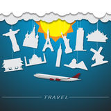 Travel landmark background Stock Photo