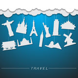 Travel landmark background Royalty Free Stock Photo