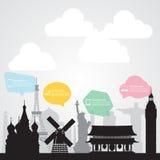 travel landmark communication background Royalty Free Stock Images