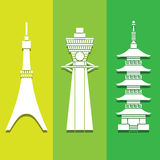 Travel landmark icon great for any use. Vector EPS10. Stock Image