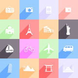 Travel and landmarks icons Stock Photo