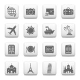 Travel and Landmarks icons Royalty Free Stock Photos