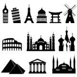 Travel landmarks and monuments vector illustration