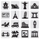 Travel and landmarks set Stock Photos