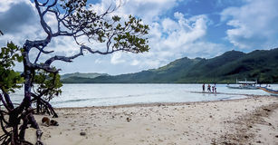 Travel and Landscape, Snake Island palawan. There is this place that I like to go to. A place where I can be alone in the bright sunlight. A place where I can Royalty Free Stock Photos