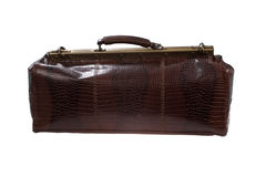 Travel leather bag Stock Image