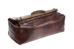 Travel leather bag isolated Royalty Free Stock Photo