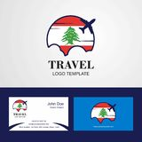 Travel Lebanon Flag Logo and Visiting Card Design. This Vector EPS 10 illustration is best for print media, web design, application design user interface and royalty free illustration