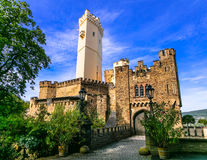 Travel the Legendary Rhine-Romantic Route -castle Stolzenfels. G Royalty Free Stock Photography